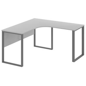 Стол рабочий угловой на металлическом каркасе