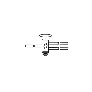 Трехсторонний кран, 2 мм