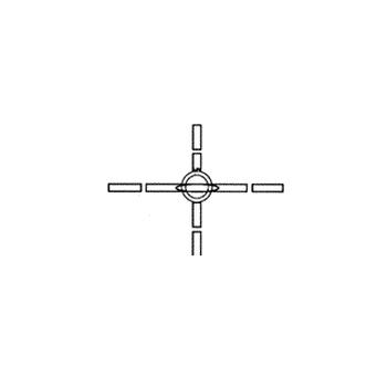 Крестообразный кран, четырехсторонний
