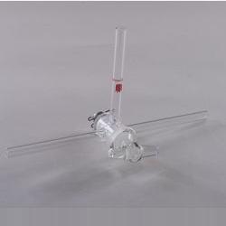 Т-образный кран со стеклянный сердцевиной, 4 мм